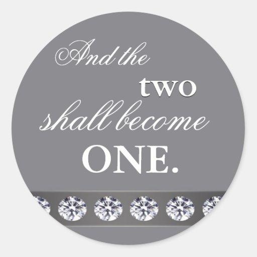Plata y cristal - y los dos se convertirán en uno pegatina redonda