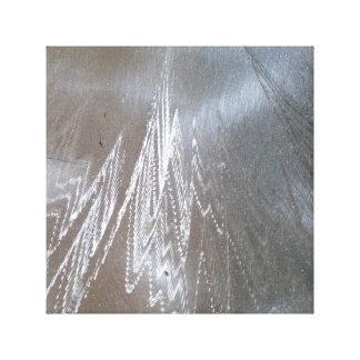 Plata y diseño grabado al agua fuerte beige impresión en lienzo