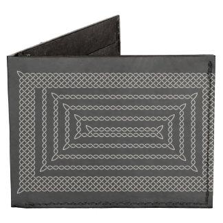 Plata y espiral rectangular céltico del negro billeteras tyvek®