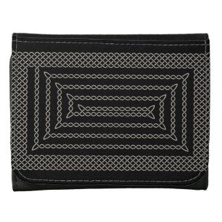 Plata y espiral rectangular céltico del negro
