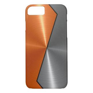 Plata y metal anaranjado 5 del acero inoxidable funda iPhone 7