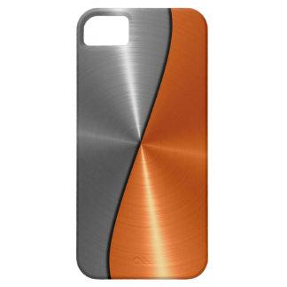 Plata y metal anaranjado del acero inoxidable iPhone 5 carcasas