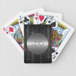 Plata y metal gris del acero inoxidable cartas de juego