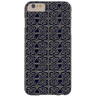 Plata y modelo conectado azul del Celtic de los Funda Para iPhone 6 Plus Barely There