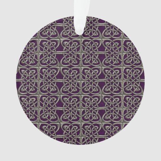 Plata y modelo conectado púrpura del Celtic de los