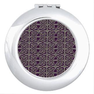 Plata y modelo conectado púrpura del Celtic de los Espejos Maquillaje