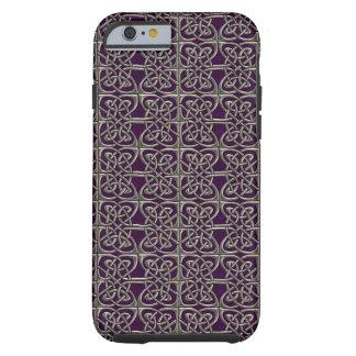 Plata y modelo conectado púrpura del Celtic de los Funda De iPhone 6 Tough