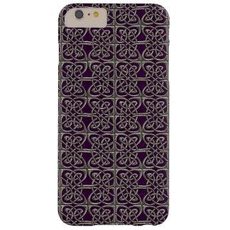 Plata y modelo conectado púrpura del Celtic de los Funda Para iPhone 6 Plus Barely There