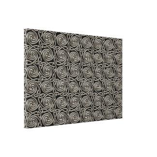 Plata y modelo de nudos espiral céltico del negro lienzo envuelto para galerias