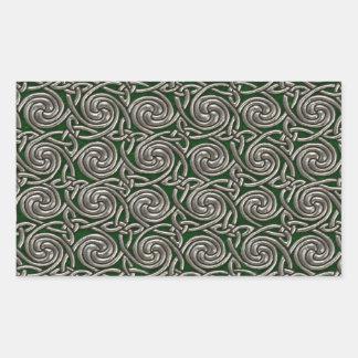 Plata y modelo de nudos espiral céltico del verde