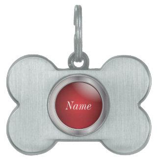 Plata y nombre del rojo el | DIY Placas Mascota