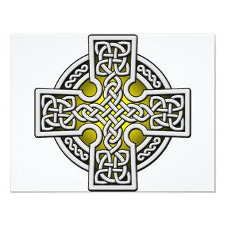 Plata y oro de la manera del Celtic 4 Invitacion Personal