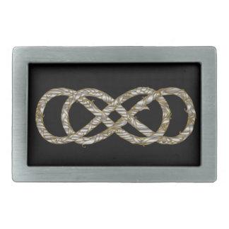 Plata y oro dobles tejidos - hebilla del infinito hebillas cinturón rectangulares