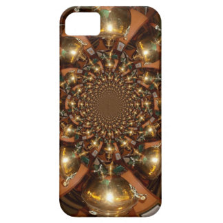 Plata y oro funda para iPhone 5 barely there