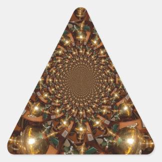 Plata y oro pegatina triangular