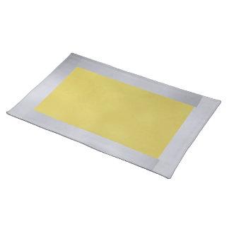 Plata y oro Placemat Manteles