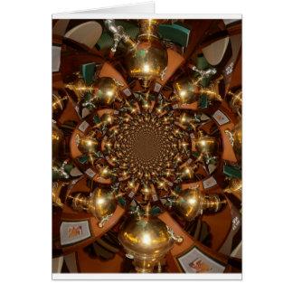 Plata y oro tarjeta de felicitación