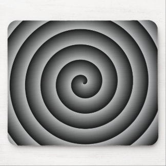Plata y persona hipnotizada del negro tapetes de ratón