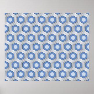 Plata y poster tejado azul del maleficio
