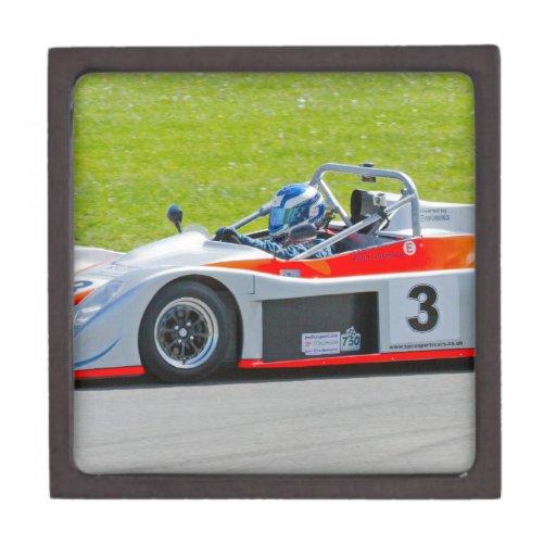 Plata y solo coche de competición rojo del seater caja de regalo de calidad