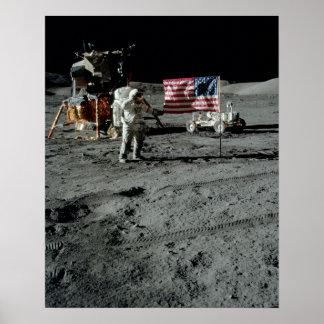 Plataforma de aterrizaje de Apolo 17 Poster