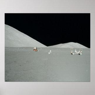 Plataforma de aterrizaje de Apolo 17 Posters