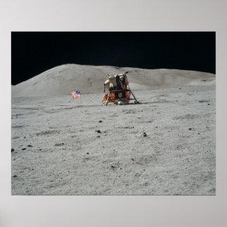 Plataforma de aterrizaje del módulo lunar de Apolo Poster