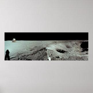 Plataforma de aterrizaje lunar de Apolo 11 Poster