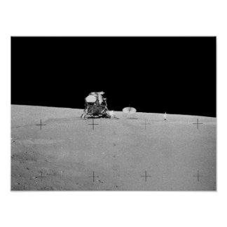 Plataforma de aterrizaje lunar de Apolo 12 Posters