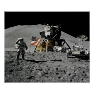 Plataforma de aterrizaje lunar de Apolo 15 Poster