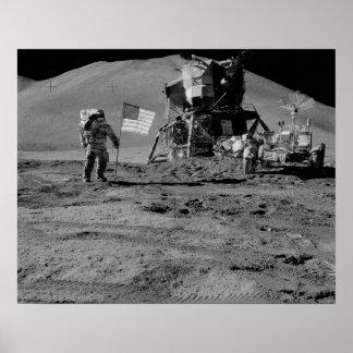 Plataforma de aterrizaje lunar de Apolo 15 Posters