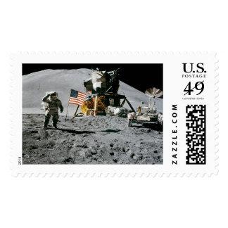 PLATAFORMA DE ATERRIZAJE LUNAR (misson) de Apolo Sello Postal