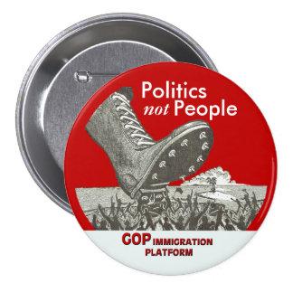 Plataforma de la inmigración del GOP Pin Redondo De 3 Pulgadas