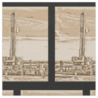 Plataforma de perforación del campo petrolífero telas