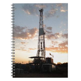 Plataforma de perforación del oeste de Tejas Note Book
