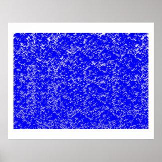 Plataforma decorativa oriental china azul del INFI Posters