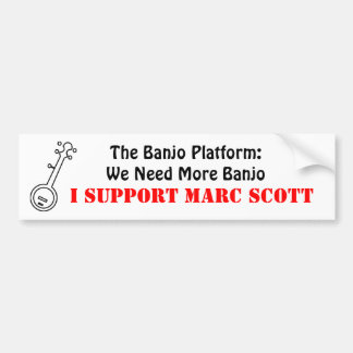 Plataforma del banjo: Pegatina para el parachoques Pegatina Para Auto