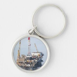 Plataforma petrolera llavero personalizado