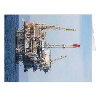 Plataforma petrolera tarjeta de felicitación grande