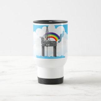 Plataforma petrolera tazas de café