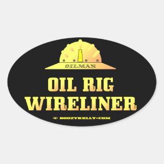Plataforma petrolera Wireliner, aceite, gas, Colcomanias Oval