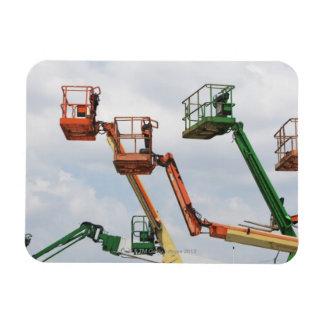 Plataformas de elevación industriales iman rectangular