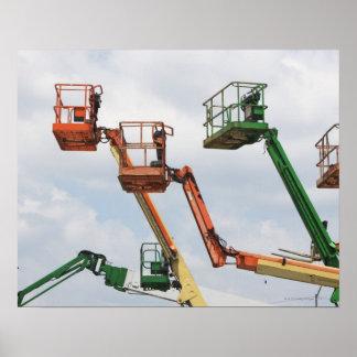 Plataformas de elevación industriales póster