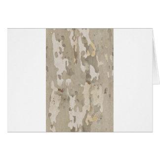 Platan bark texture card