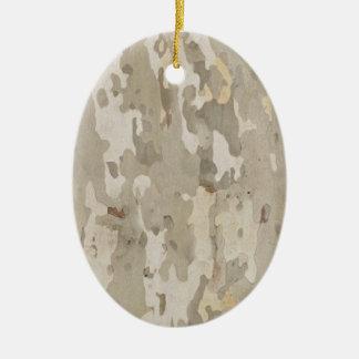Platan bark texture ceramic ornament