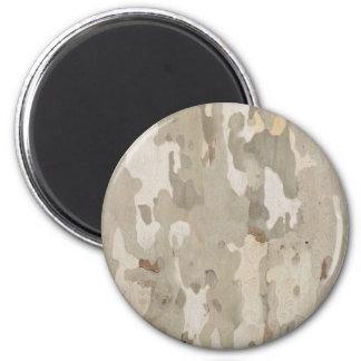 Platan bark texture magnet