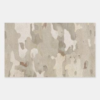 Platan bark texture rectangular sticker