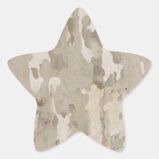 Platan bark texture star sticker