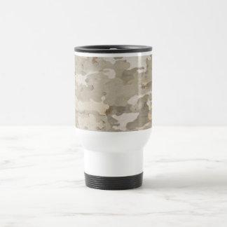 Platan bark texture travel mug