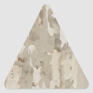 Platan bark texture triangle sticker